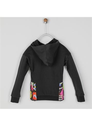 Panço Kız Çocuk Sweatshirt 2021GK08048 Siyah